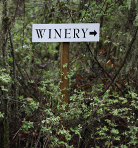 sign showing winery location